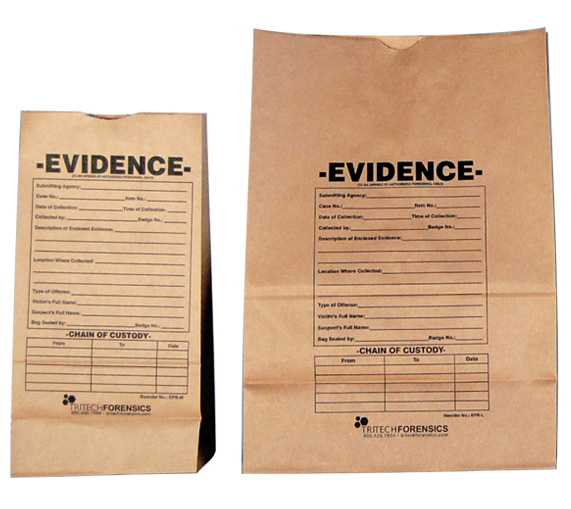 Preprinted Evidence Bags 100 Pack