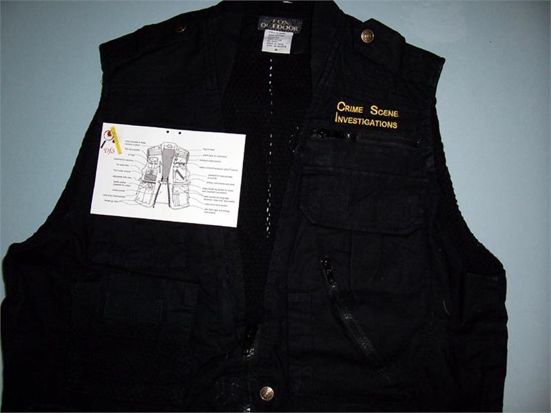 Photo Jounalist Vest Embroidered Quot Crime Scene Investigations Quot